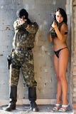 γυναίκα στρατιωτών στοκ φωτογραφία με δικαίωμα ελεύθερης χρήσης