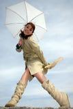 γυναίκα συγκίνησης Στοκ φωτογραφία με δικαίωμα ελεύθερης χρήσης