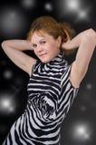 γυναίκα συμβαλλόμενων μ&eps Στοκ φωτογραφία με δικαίωμα ελεύθερης χρήσης