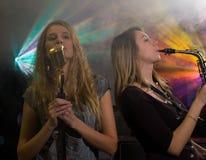 γυναίκα συναυλίας Στοκ φωτογραφίες με δικαίωμα ελεύθερης χρήσης