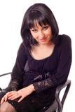 γυναίκα συνεδρίασης εδ& Στοκ Φωτογραφία