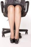 γυναίκα συνεδρίασης εδ& στοκ εικόνες με δικαίωμα ελεύθερης χρήσης