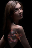 Γυναίκα σώμα-τέχνης Στοκ φωτογραφίες με δικαίωμα ελεύθερης χρήσης