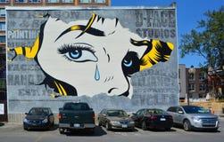 Γυναίκα τέχνης οδών Στοκ εικόνα με δικαίωμα ελεύθερης χρήσης