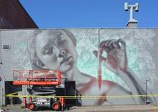 Γυναίκα τέχνης οδών Στοκ φωτογραφίες με δικαίωμα ελεύθερης χρήσης