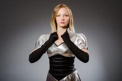 Γυναίκα τεχνολογίας σε φουτουριστικό Στοκ φωτογραφίες με δικαίωμα ελεύθερης χρήσης