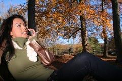 γυναίκα τηλεφωνικής σκη&n Στοκ Εικόνες