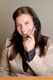 γυναίκα τηλεφωνικών κέντρ&om Στοκ Εικόνες