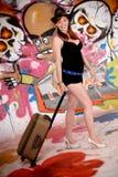 γυναίκα τοίχων γκράφιτι κ&alph Στοκ φωτογραφία με δικαίωμα ελεύθερης χρήσης