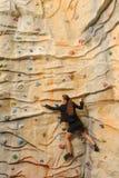 γυναίκα τοίχων επιχειρησιακού βράχου Στοκ Φωτογραφία