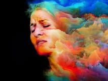 Γυναίκα του χρώματος διανυσματική απεικόνιση