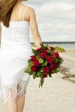 γυναίκα τριαντάφυλλων πα& στοκ φωτογραφία