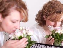 γυναίκα τριαντάφυλλων στοκ φωτογραφίες με δικαίωμα ελεύθερης χρήσης