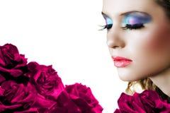 γυναίκα τριαντάφυλλων στοκ εικόνες