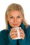 γυναίκα τσαγιού φλυτζαν στοκ φωτογραφία