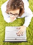 γυναίκα υπολογιστών Στοκ Φωτογραφίες
