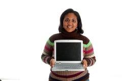 γυναίκα υπολογιστών Στοκ εικόνες με δικαίωμα ελεύθερης χρήσης