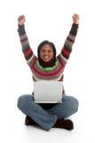 γυναίκα υπολογιστών Στοκ εικόνα με δικαίωμα ελεύθερης χρήσης