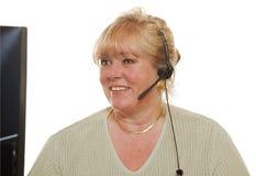Γυναίκα υποστήριξης πελατών στοκ εικόνες