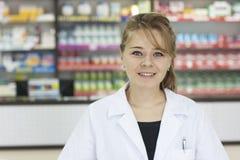 Γυναίκα φαρμακοποιών στοκ εικόνα