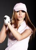 γυναίκα φορέων γκολφ Στοκ Φωτογραφία