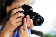 γυναίκα φωτογράφων Στοκ Φωτογραφίες