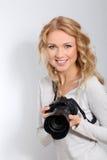 γυναίκα φωτογράφων στοκ φωτογραφία