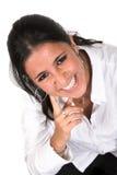 γυναίκα χαμόγελου μεγά&lambd Στοκ εικόνες με δικαίωμα ελεύθερης χρήσης