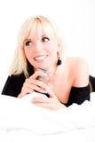 Γυναίκα χαμόγελου της Mobil Στοκ φωτογραφίες με δικαίωμα ελεύθερης χρήσης