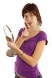 γυναίκα χειλικών χρωμάτων Στοκ εικόνα με δικαίωμα ελεύθερης χρήσης