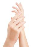 γυναίκα χεριών προσοχής Στοκ φωτογραφία με δικαίωμα ελεύθερης χρήσης