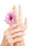 γυναίκα χεριών προσοχής Στοκ Φωτογραφία