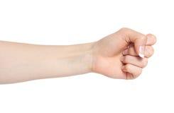 γυναίκα χεριών πυγμών Στοκ Φωτογραφίες