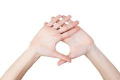 γυναίκα χεριών στοκ εικόνα