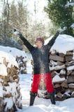γυναίκα χιονιού στοκ φωτογραφίες με δικαίωμα ελεύθερης χρήσης