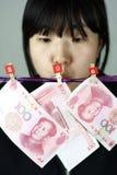 γυναίκα χρημάτων στοκ φωτογραφίες