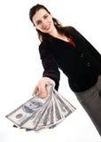 γυναίκα χρημάτων στοκ φωτογραφία με δικαίωμα ελεύθερης χρήσης