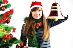 γυναίκα Χριστουγέννων κ&omicr Στοκ Εικόνα