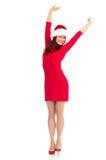 γυναίκα Χριστουγέννων στοκ εικόνα με δικαίωμα ελεύθερης χρήσης