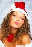 γυναίκα Χριστουγέννων στοκ εικόνες με δικαίωμα ελεύθερης χρήσης