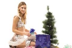 γυναίκα Χριστουγέννων Στοκ Φωτογραφία