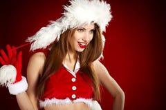 γυναίκα Χριστουγέννων Στοκ Φωτογραφίες