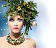 Γυναίκα Χριστουγέννων στοκ εικόνες