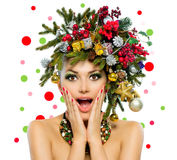 Γυναίκα Χριστουγέννων Στοκ φωτογραφία με δικαίωμα ελεύθερης χρήσης