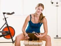 γυναίκα χρονομέτρων με δι& στοκ φωτογραφία με δικαίωμα ελεύθερης χρήσης