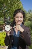 Γυναίκα χρονομέτρων Στοκ φωτογραφία με δικαίωμα ελεύθερης χρήσης