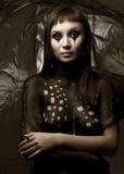 Γυναίκα χρωμάτων σώμα-τέχνης Στοκ φωτογραφίες με δικαίωμα ελεύθερης χρήσης