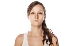 Γυναίκα χωρίς σύνθεση Στοκ Εικόνες