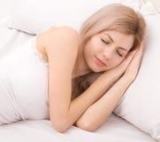 γυναίκα ύπνου στοκ εικόνες
