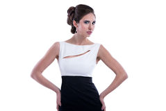 Γυναίκα ύφους μόδας στοκ εικόνα με δικαίωμα ελεύθερης χρήσης